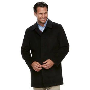 Mens Ike Behar Classic-Fit Cashmere-Blend Top Coat